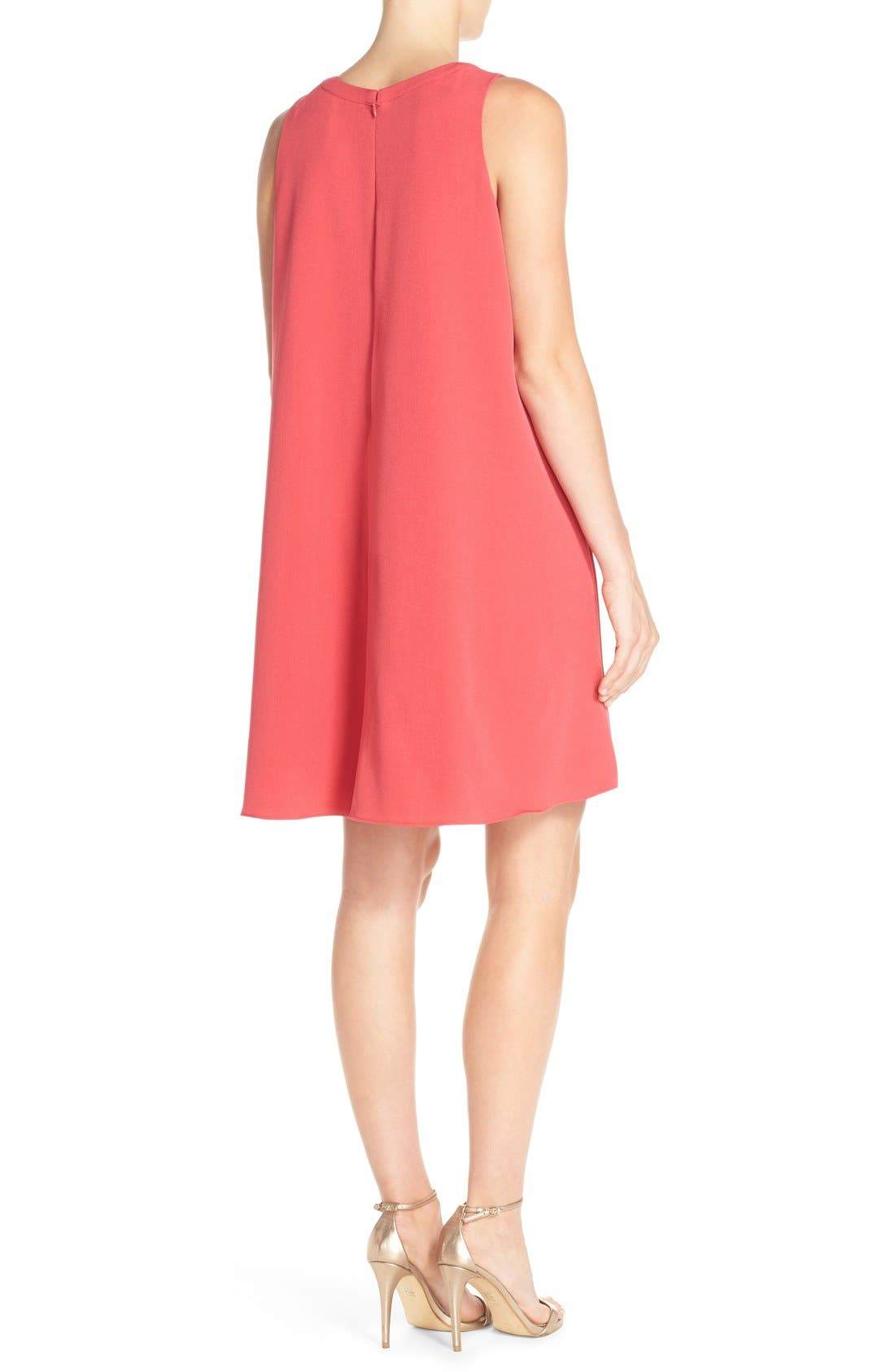 Alternate Image 2  - Adrianna Papell Split Neck Swing Dress