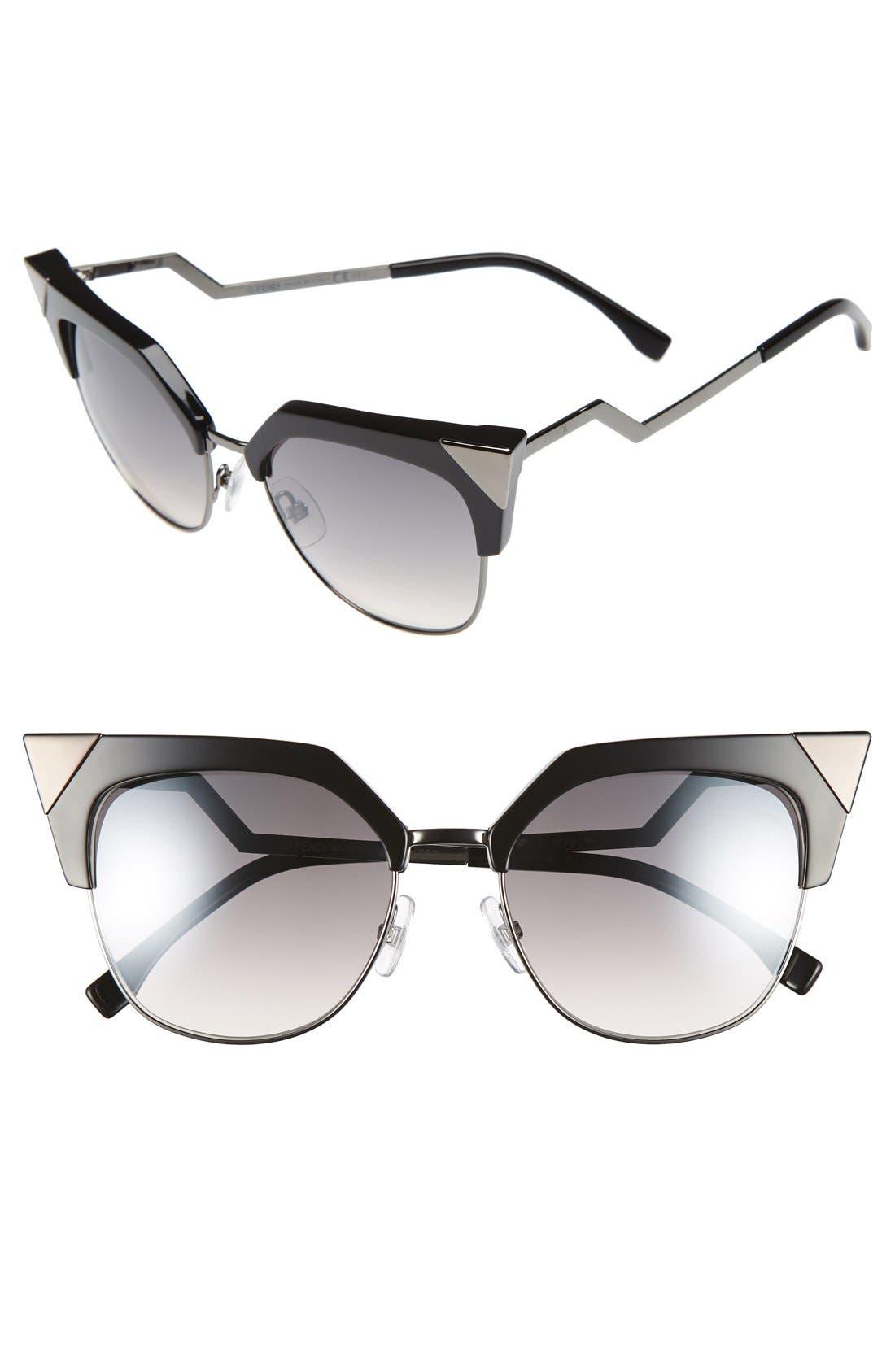 Fendi 54mm Metal Tipped Cat Eye Sunglasses