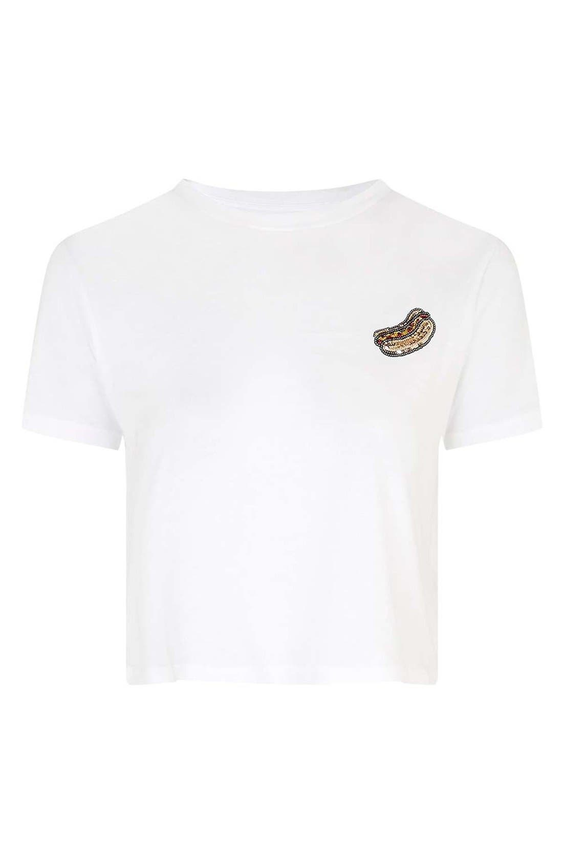 Alternate Image 4  - Topshop by Tee & Cake Sequin Hot Dog Tee