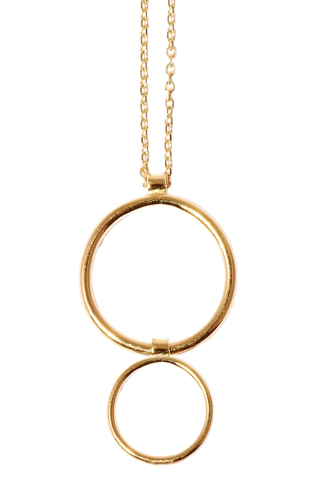 SARAH & SEBASTIAN Two Bubble Pendant Necklace