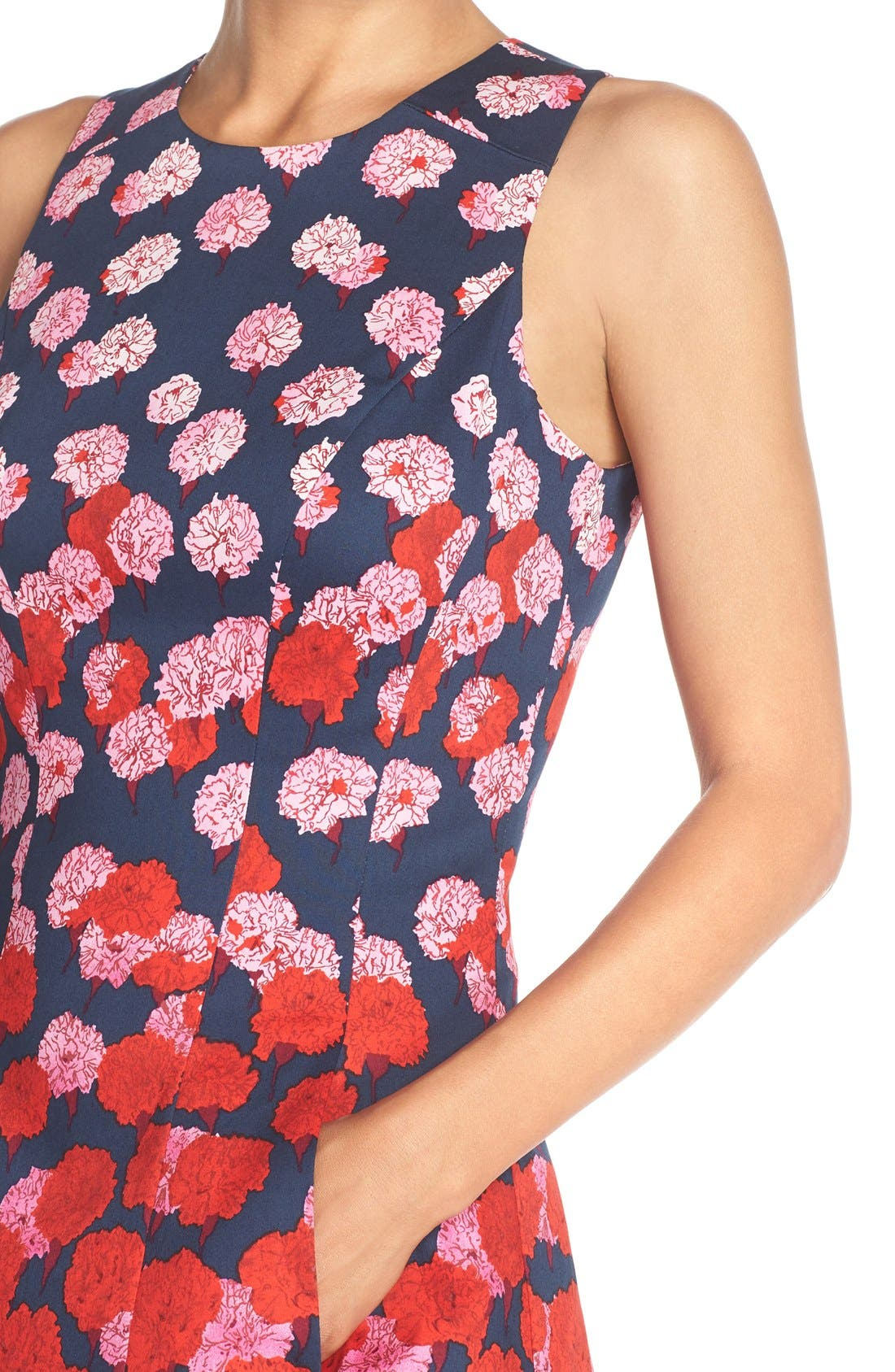 Alternate Image 5  - Maggy London Floral Print Fit & Flare Dress (Regular & Petite)