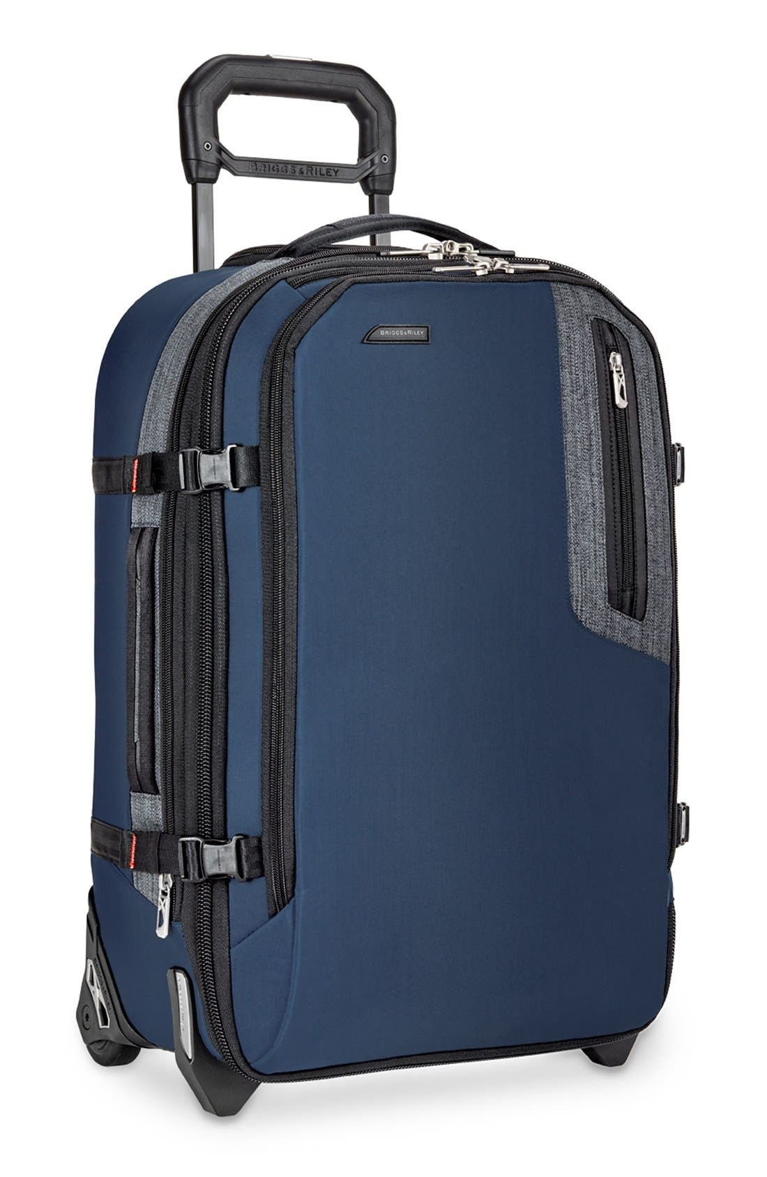 'BRX - Explore' Domestic Wheeled Carry-On,                             Alternate thumbnail 3, color,                             Blue