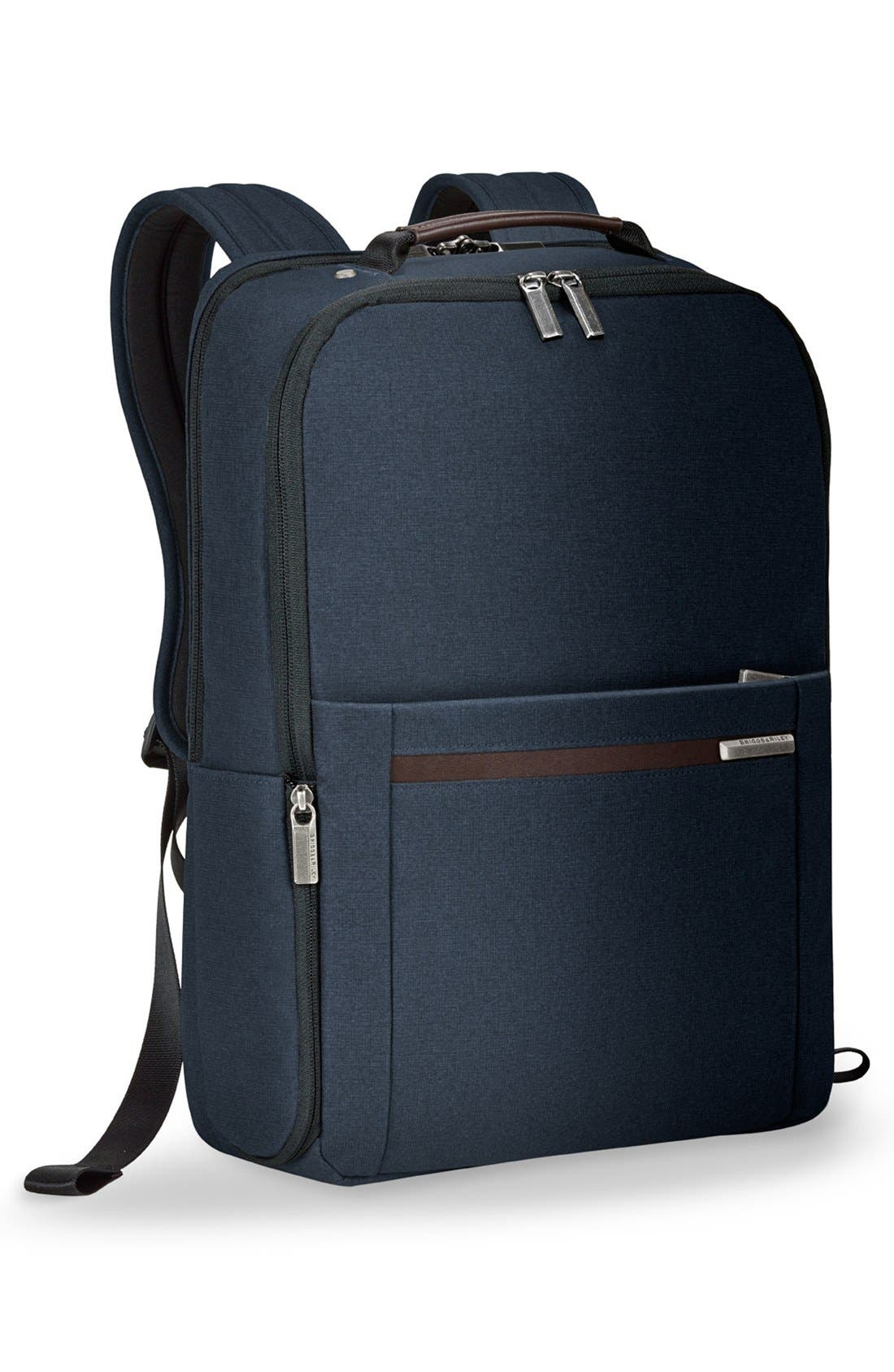 Kinzie Street Medium Backpack,                             Alternate thumbnail 3, color,                             Navy Blue