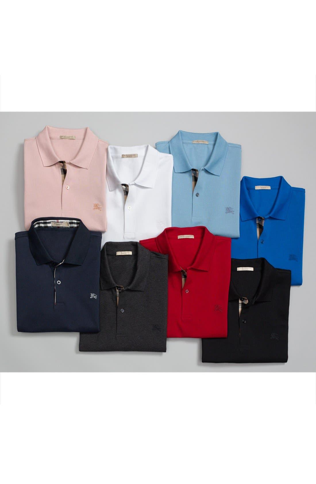 e7409d617025 BURBERRY Short-Sleeve Pique Polo Shirt