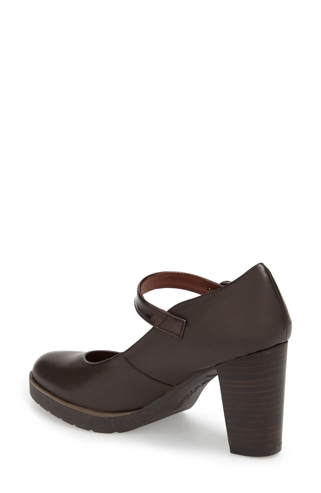 'Veda' Mary Jane Pump,                             Alternate thumbnail 2, color,                             Brown Leather