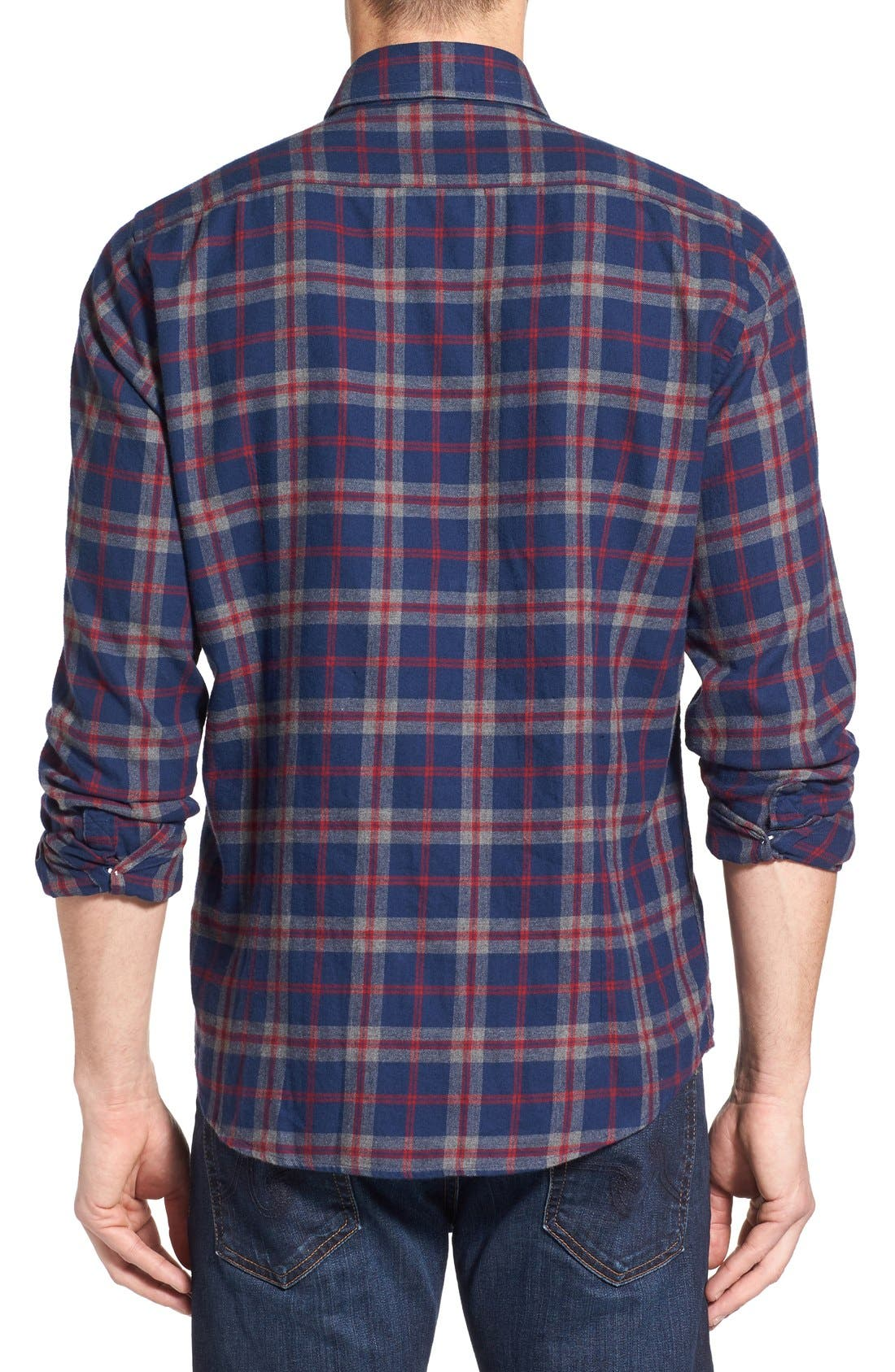 Alternate Image 2  - Barbour Seth Tailored Fit Plaid Sport Shirt