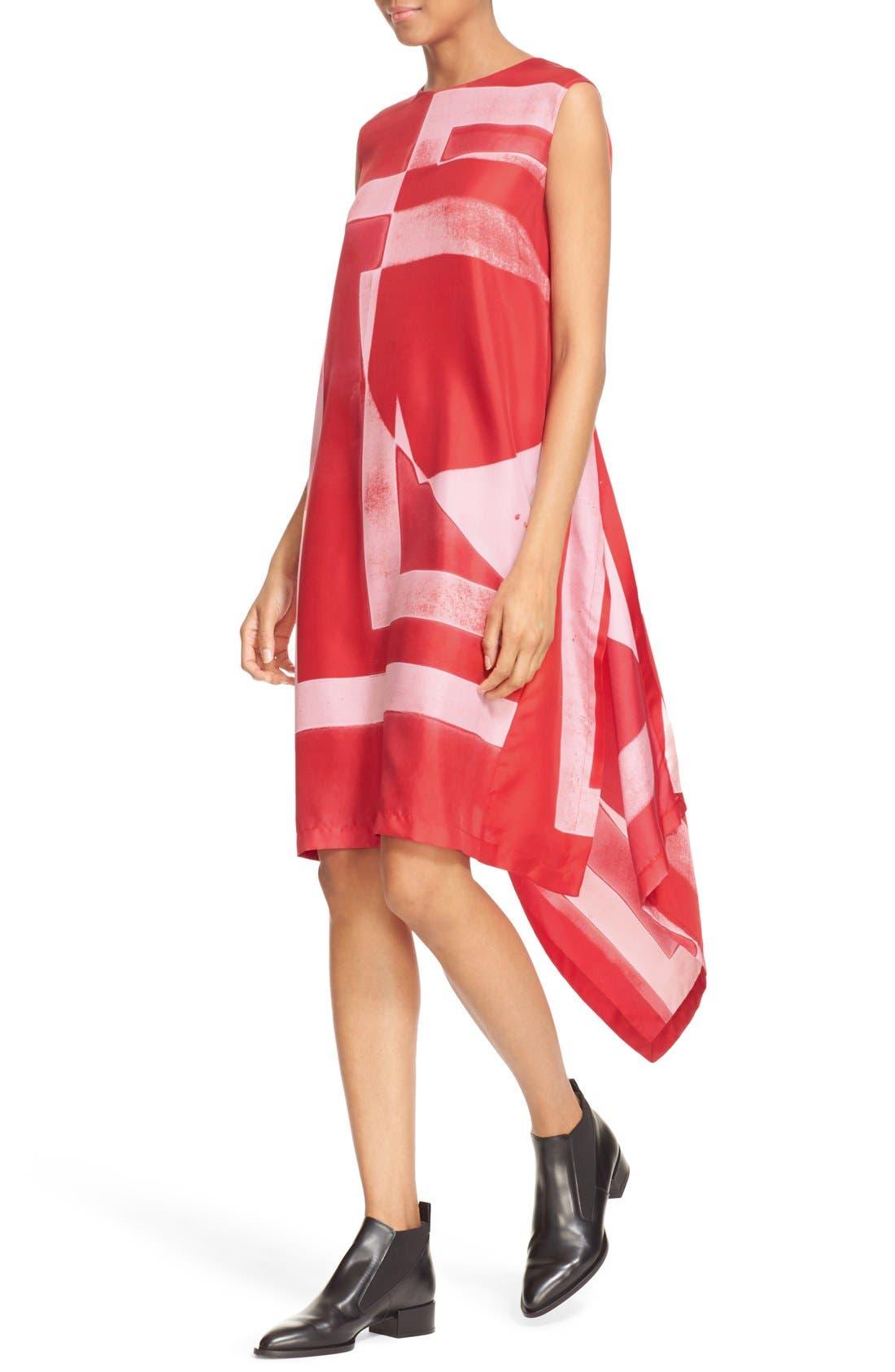 Alternate Image 4  - DKNY Asymmetrical Print Silk Tunic Dress