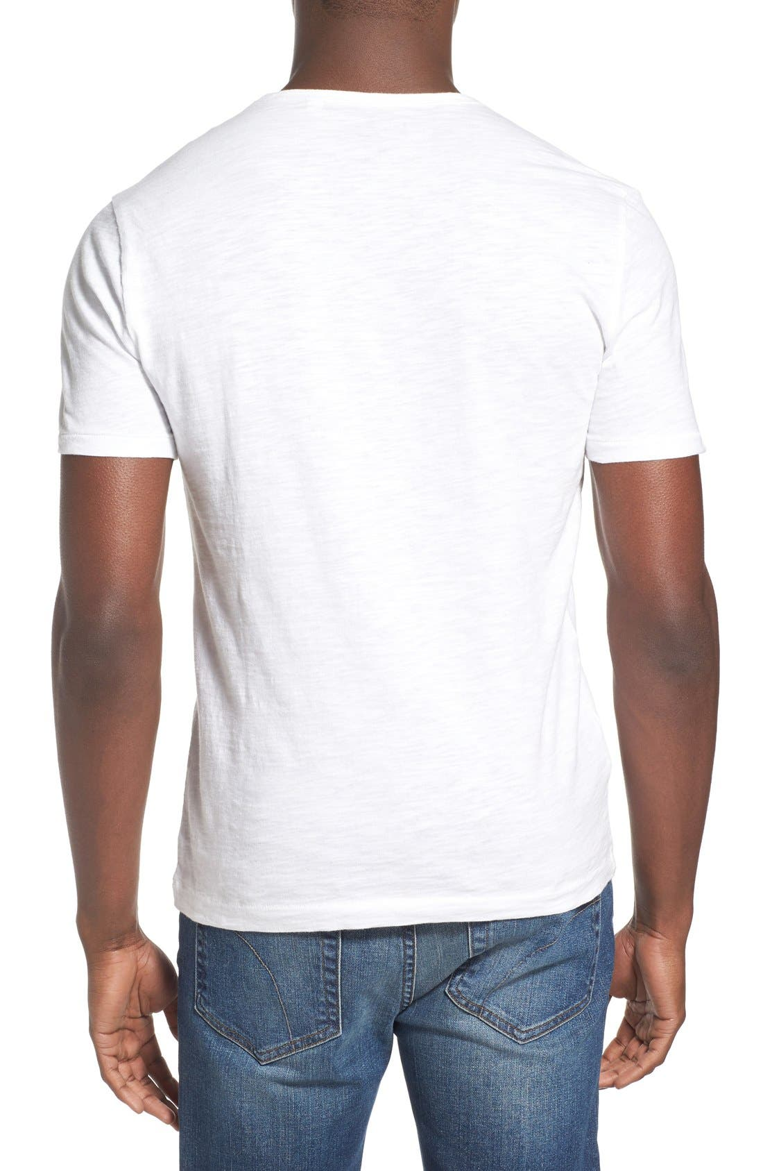 'Bing' V-Neck Pocket T-Shirt,                             Alternate thumbnail 2, color,                             Bright White
