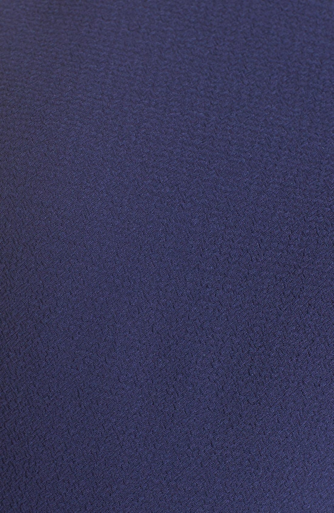 Alternate Image 5  - Eliza J Ella Cascade Crepe Sheath Dress (Regular & Petite)