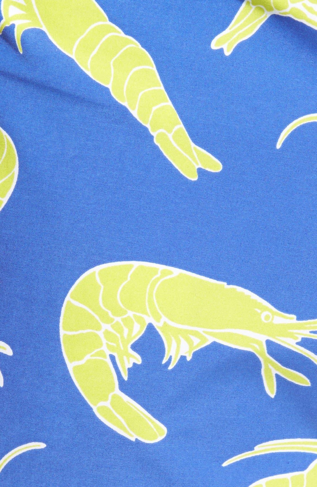 'Moorea' Shrimp Swim Trunks,                             Alternate thumbnail 5, color,                             Celestial Blue