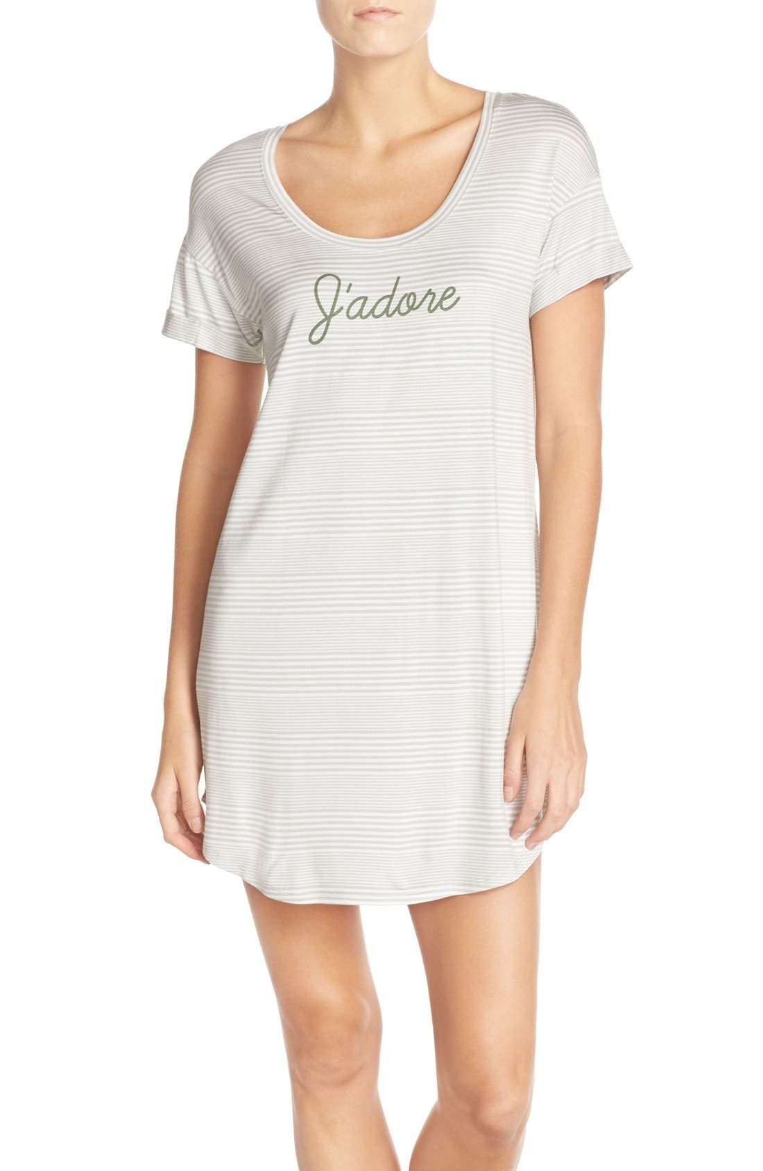 Alternate Image 1 Selected - Nordstrom Lingerie Graphic Jersey Sleep Shirt