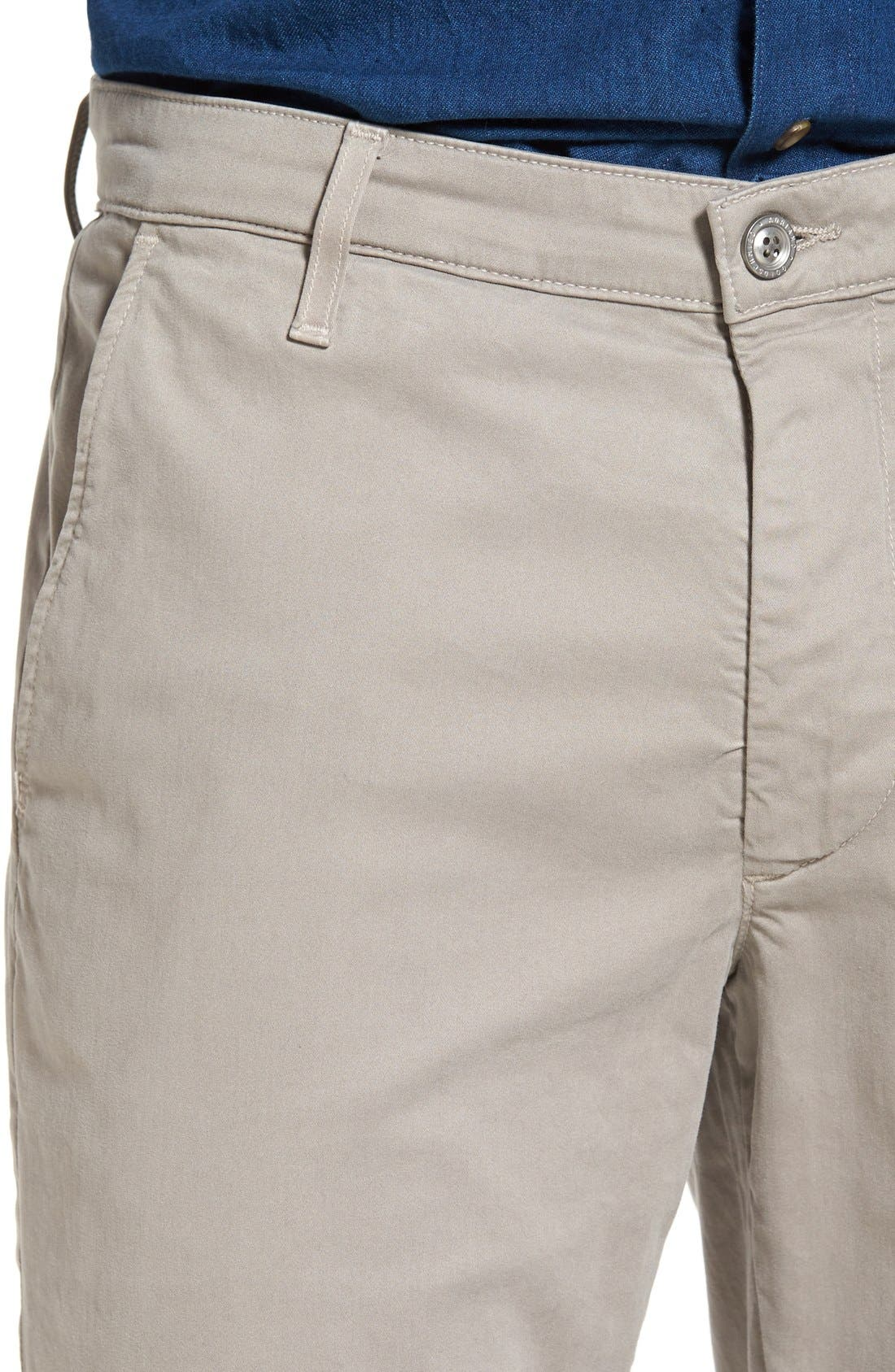 Alternate Image 4  - AG 'The Lux' Tailored Straight Leg Chinos