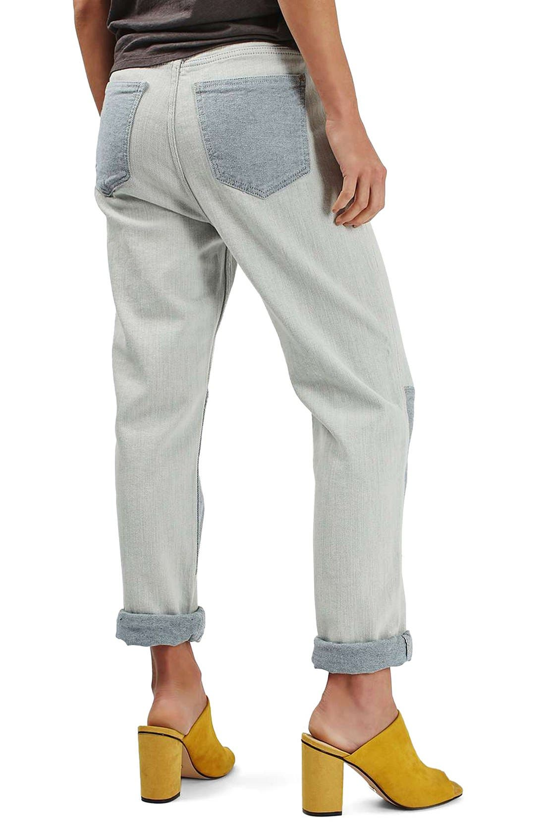 Alternate Image 3  - Topshop Moto Patch Knee Boyfriend Jeans
