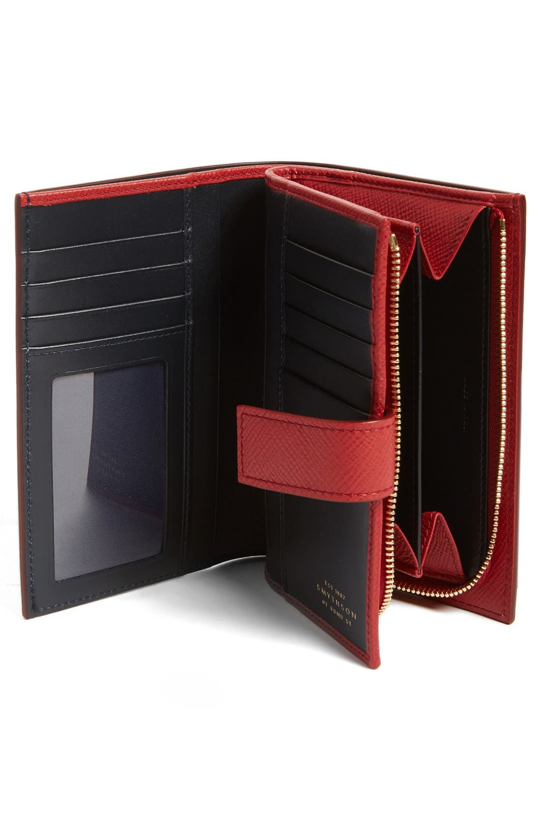 'Medium' Continental Wallet,                             Alternate thumbnail 2, color,                             Red