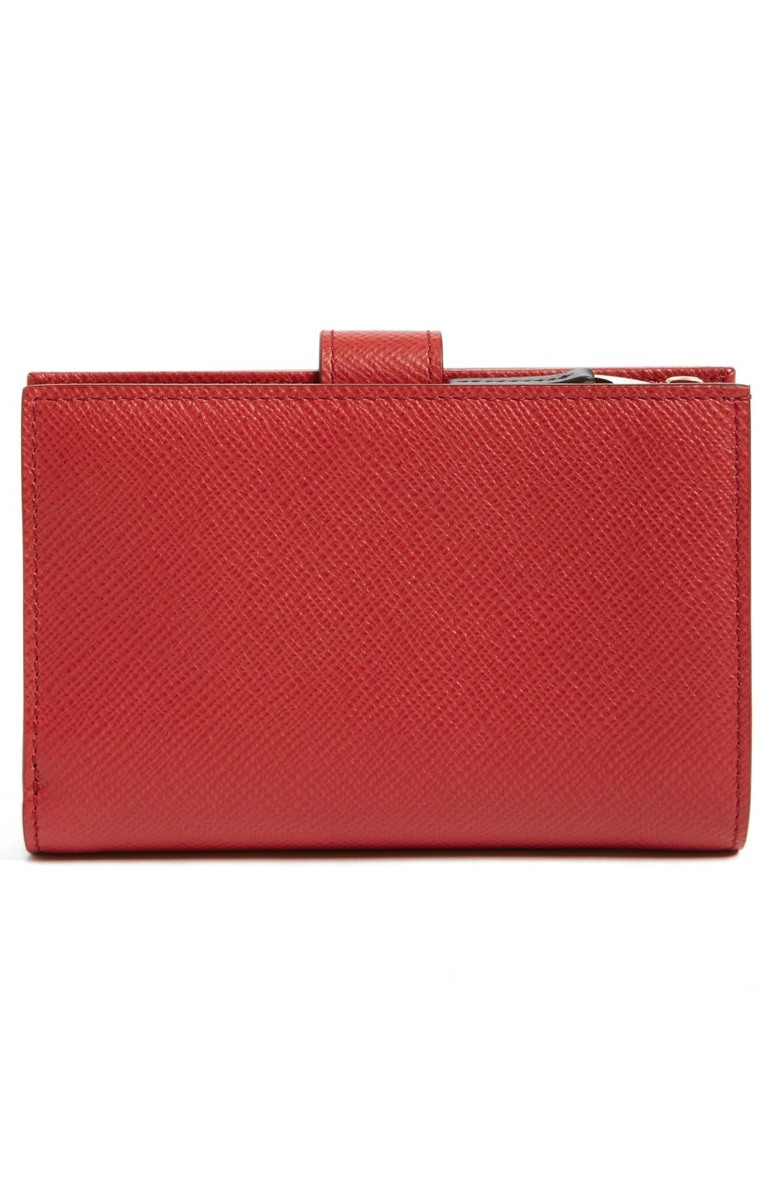 'Medium' Continental Wallet,                             Alternate thumbnail 4, color,                             Red
