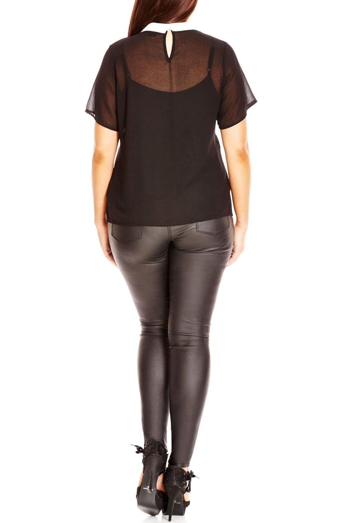 Alternate Image 2  - City Chic 'Just a Girl' Top (Plus Size)