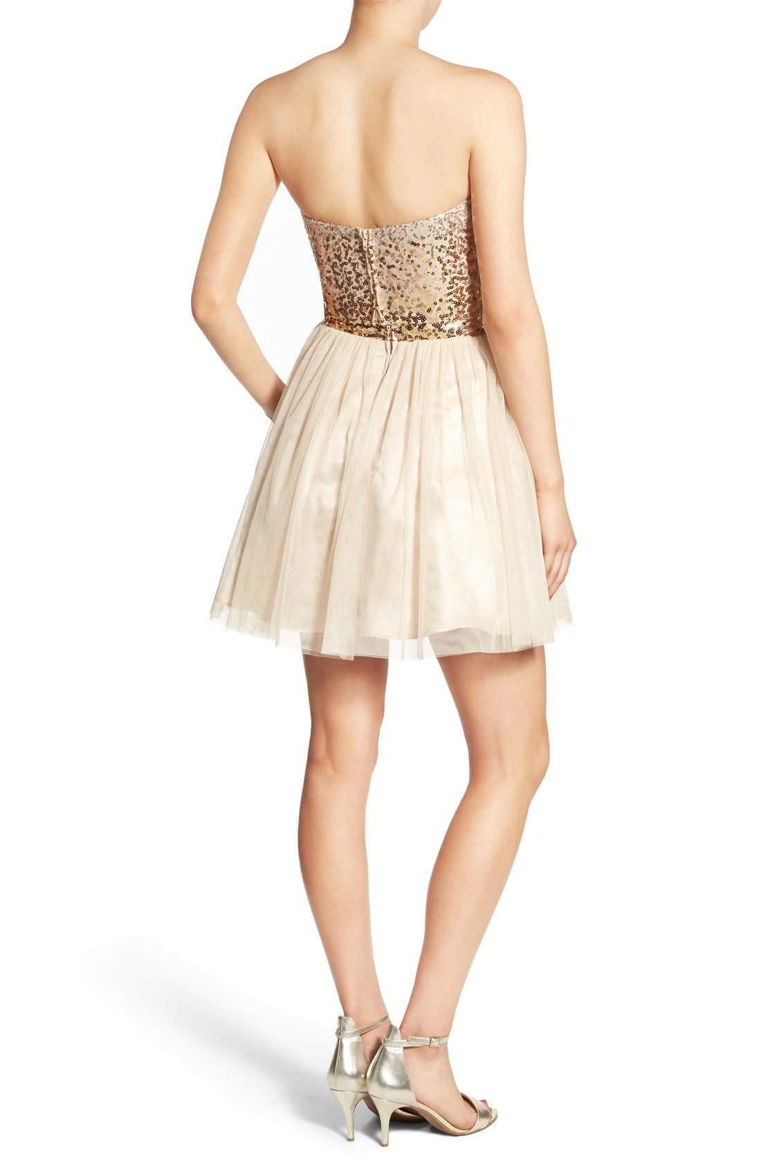 Alternate Image 2  - Steppin Out Embellished Two-Piece Skater Dress