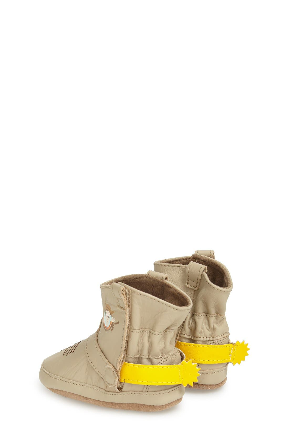 'Disney<sup>®</sup> Woody<sup>®</sup> Bootie' Crib Shoe,                             Alternate thumbnail 2, color,                             Taupe