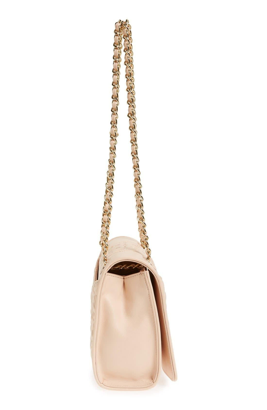'Medium Fleming' Leather Shoulder Bag,                             Alternate thumbnail 7, color,                             Pale Apricot