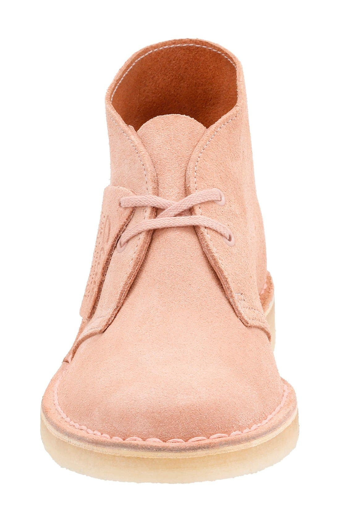 'Desert' ChukkaBoot,                             Alternate thumbnail 4, color,                             Dusty Pink Suede