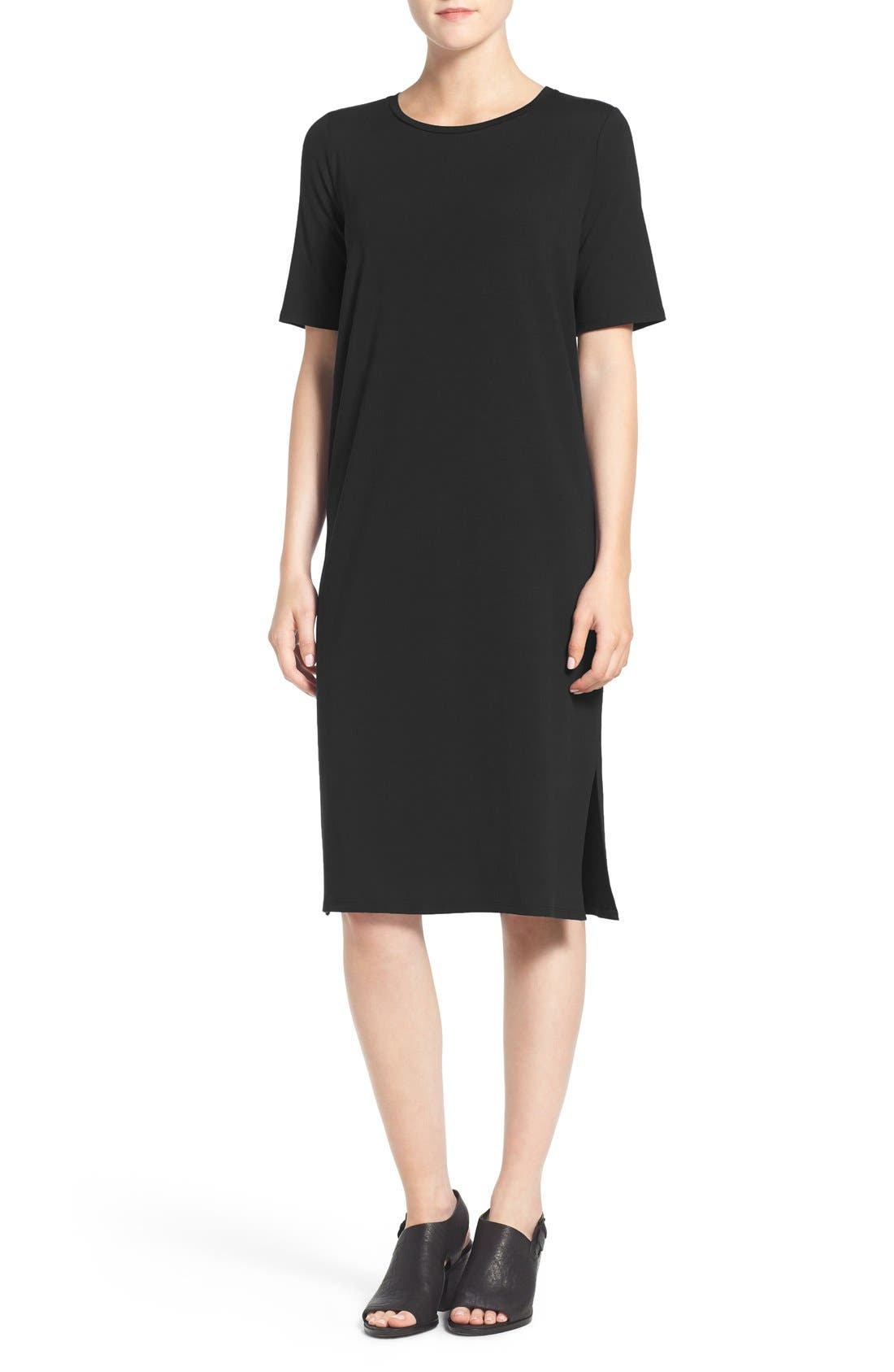 Eileen Fisher Midi Shift Dress (Regular & Petite)