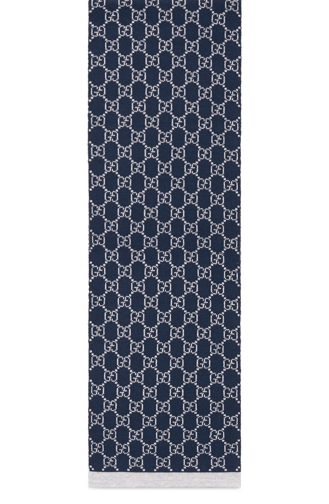 'Junior' Wool Scarf,                             Main thumbnail 1, color,                             Multi