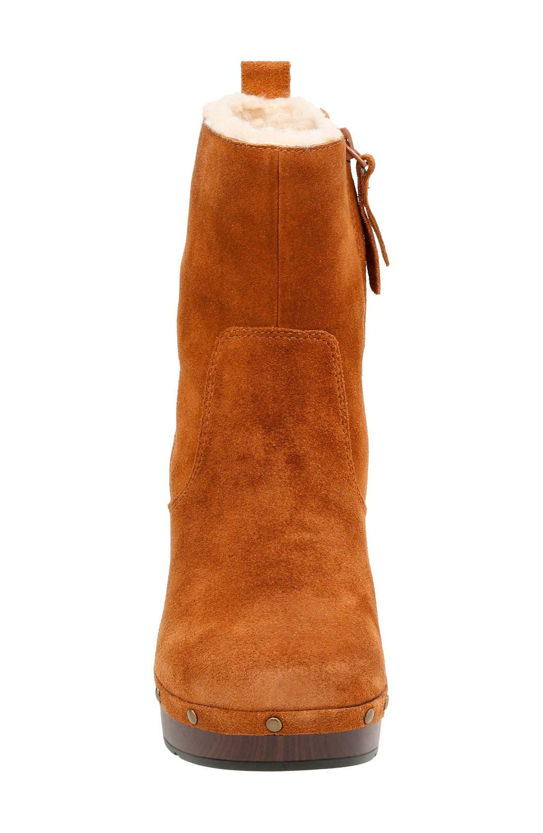 'Ledella Abby' Bootie,                             Alternate thumbnail 3, color,                             Tan Suede