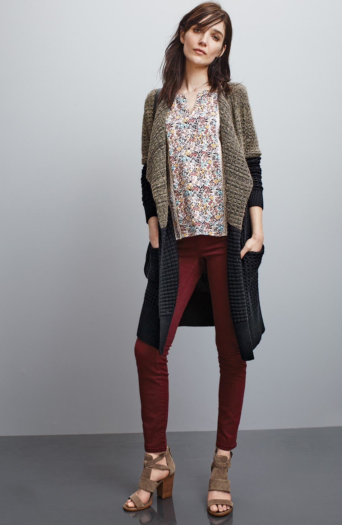 Alternate Image 6  - Caslon® Colored Stretch Skinny Jeans