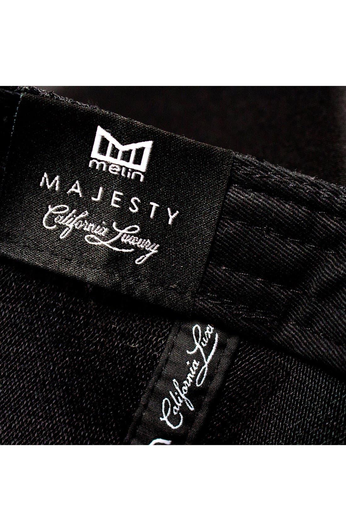 'The Majesty' Mesh Back Snapback Hat,                             Alternate thumbnail 8, color,                             Black