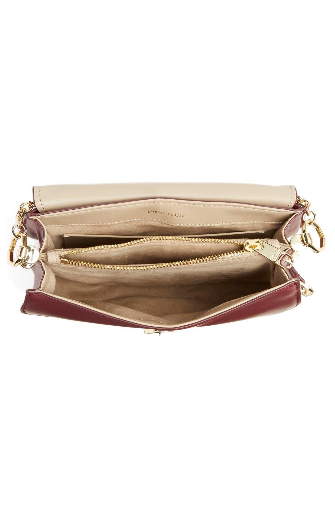 Alternate Image 4  - Louise et Cie 'Jael' Suede & Leather Shoulder Bag