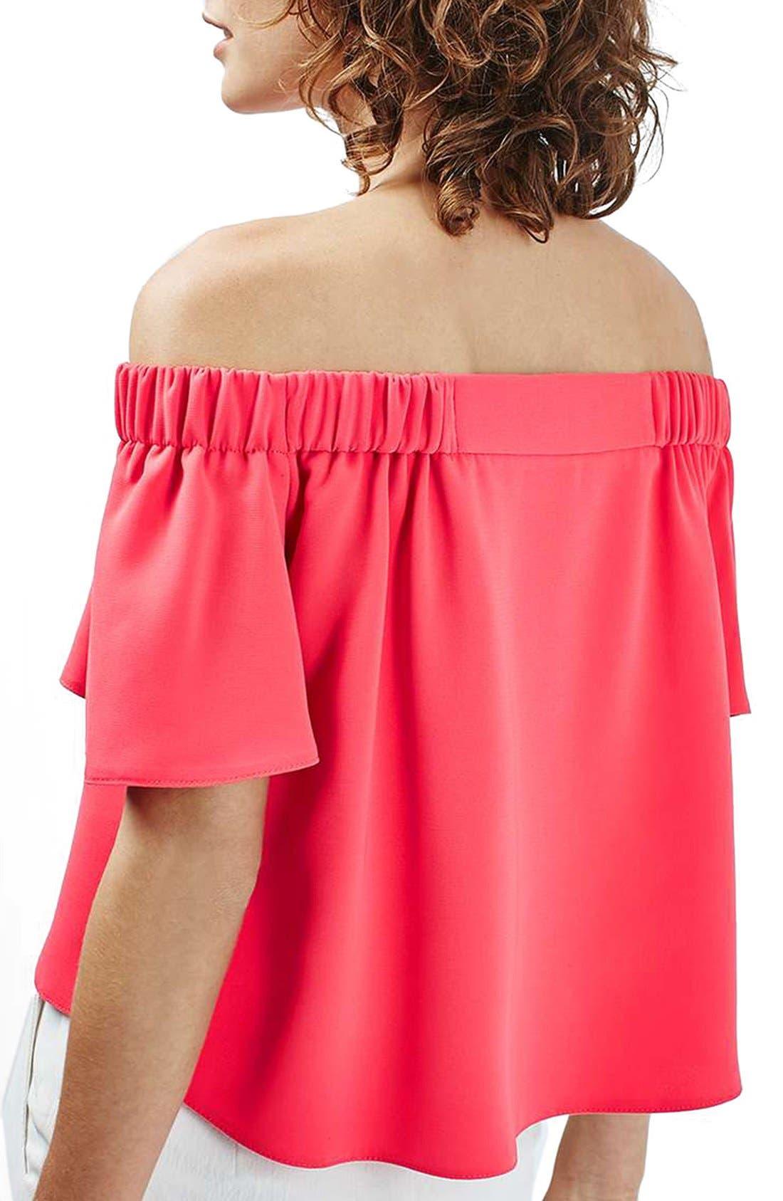 Alternate Image 3  - Topshop 'Livi' Off the Shoulder Top (Regular & Petite)