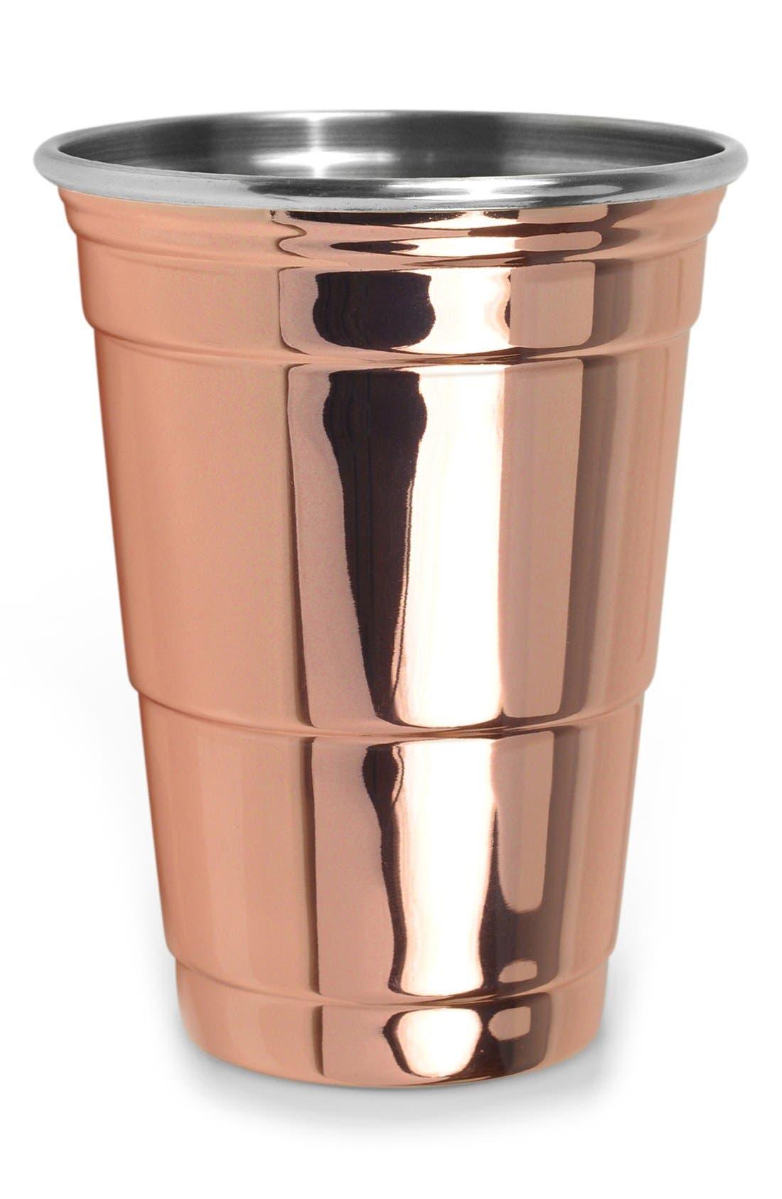 Copper Party Cup,                             Main thumbnail 1, color,                             Metallic Rust/ Copper