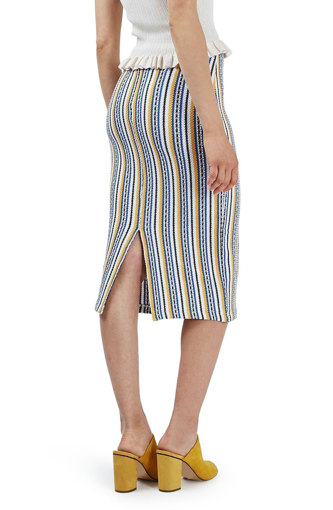 Alternate Image 3  - Topshop 'Seaside' Striped Tube Skirt