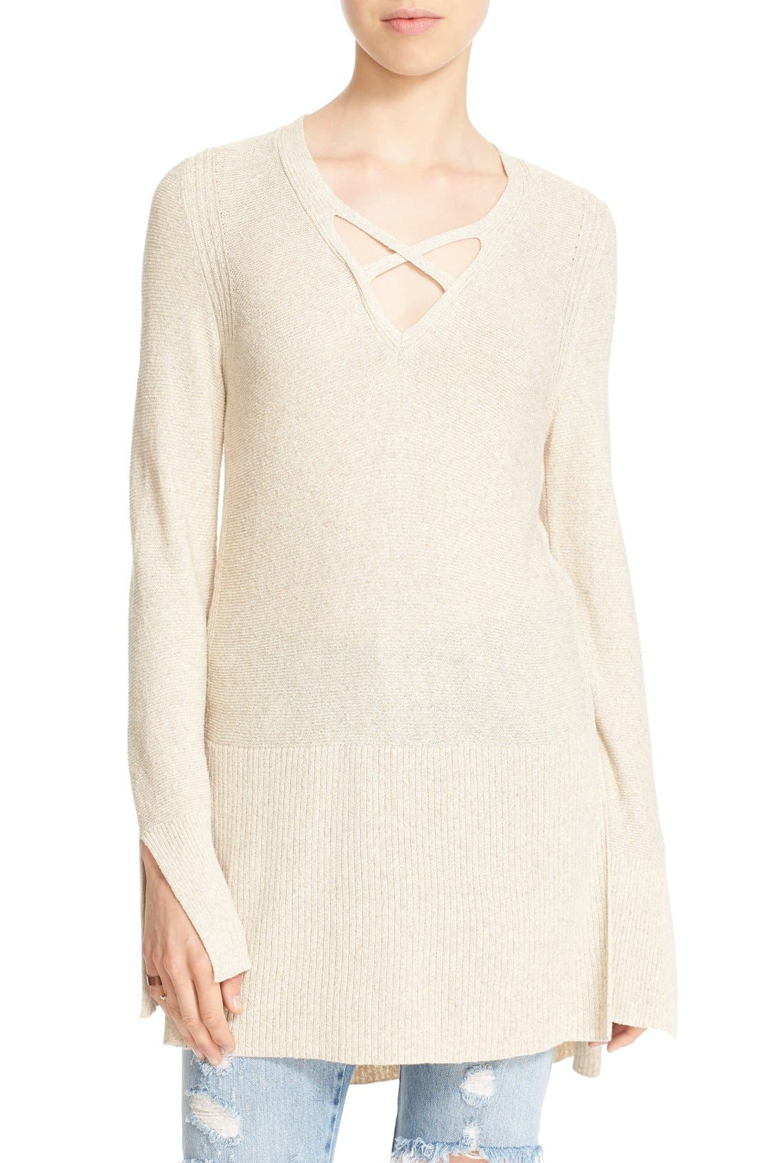 Alternate Image 1 Selected - Free People Crisscross Sweater