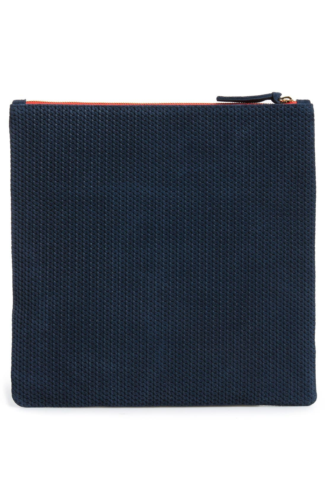 Alternate Image 3  - Clare V. 'Marine Rope' Woven Suede Foldover Clutch