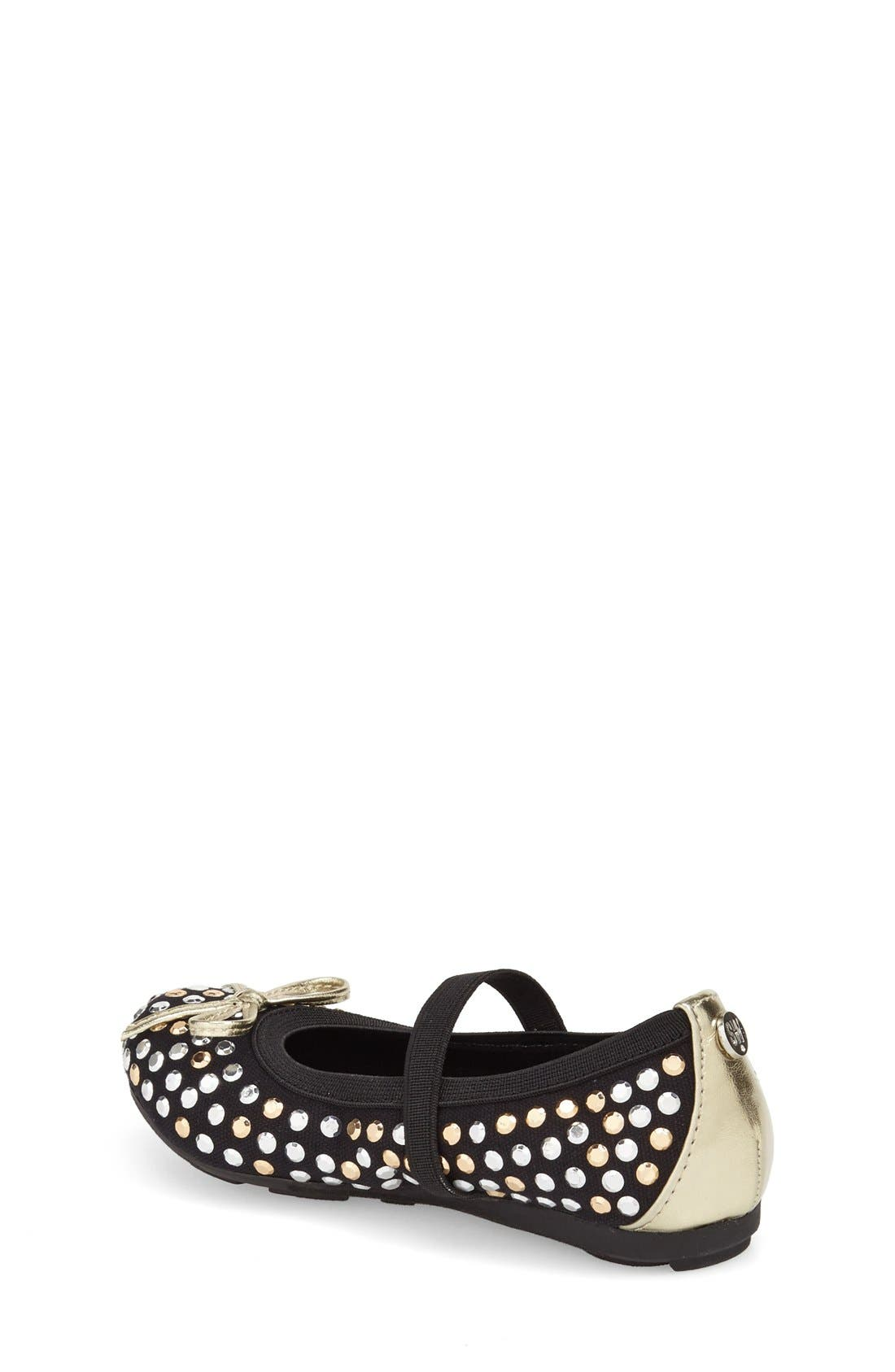 Alternate Image 2  - Stuart Weitzman 'Fannie Tara' Studded Flat (Toddler)