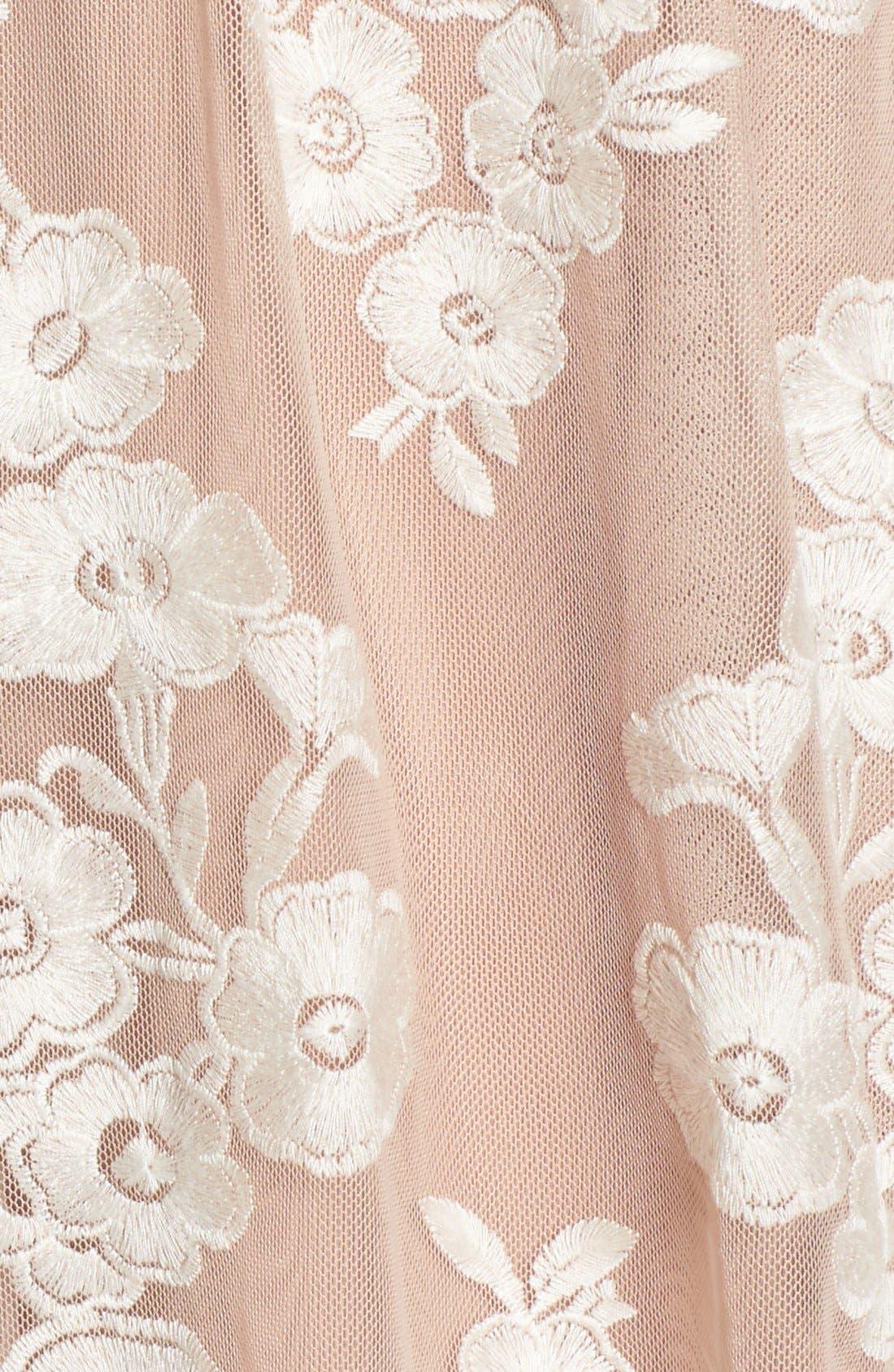 Alternate Image 5  - For Love & Lemons x Nordstrom 'Salud' Embroidered Mesh Minidress (Nordstrom Exclusive)