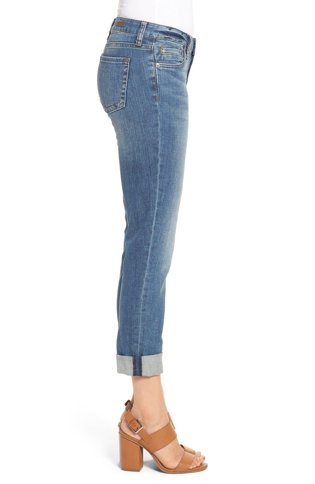 Alternate Image 4  - KUT from the Kloth 'Catherine' Slim Boyfriend Jeans (Fervent) (Regular & Petite)