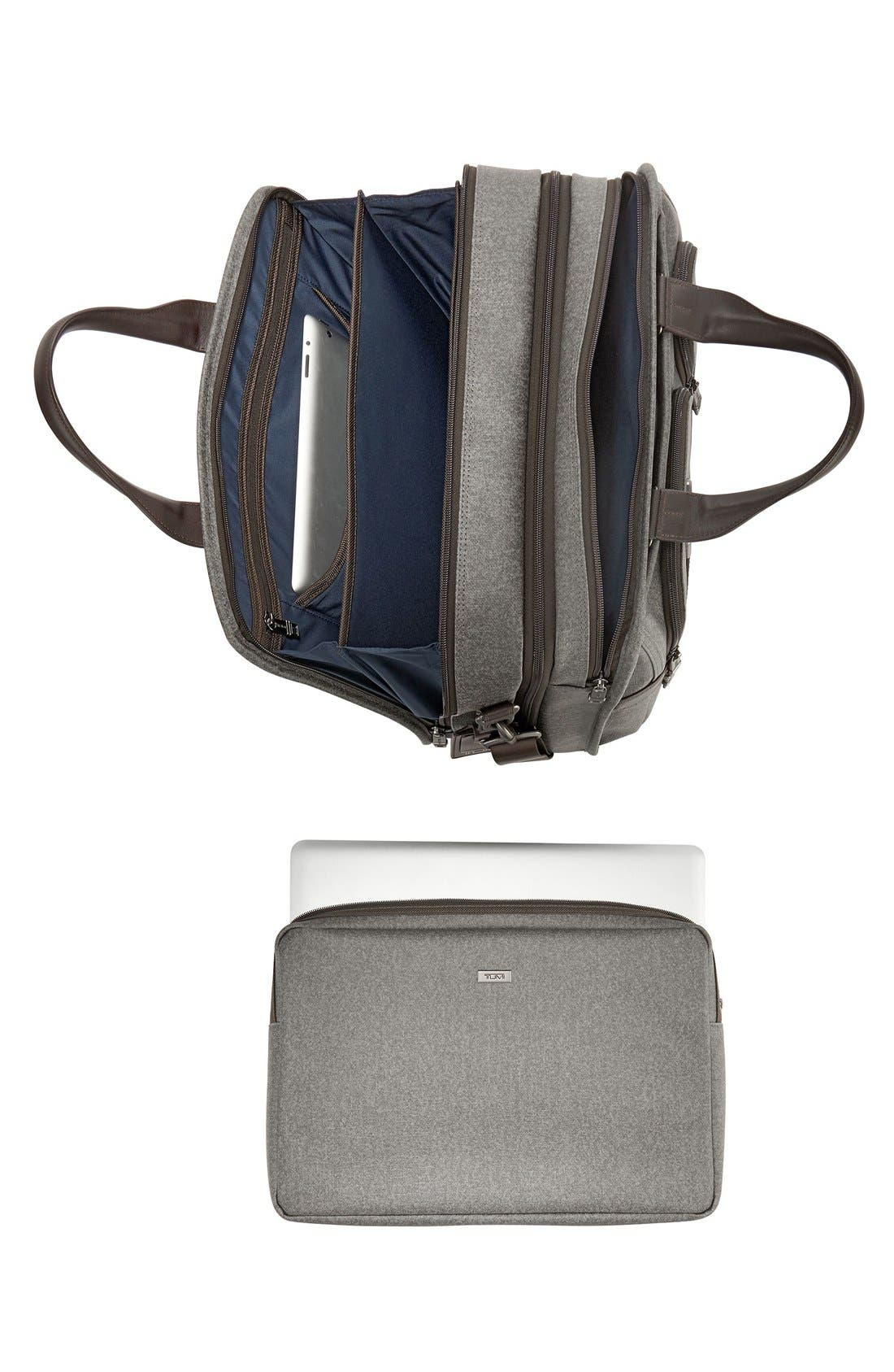 'Alpha 2' Expandable Briefcase,                             Alternate thumbnail 4, color,                             Earl Grey