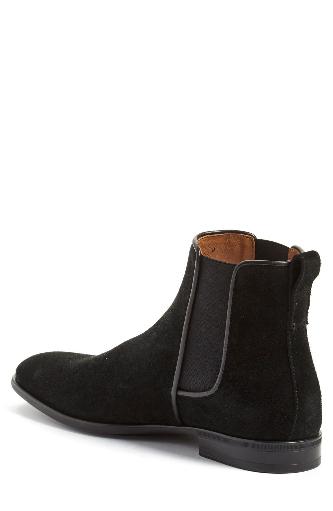 'Adrian' Weatherproof Chelsea Boot,                             Alternate thumbnail 2, color,                             Black Suede