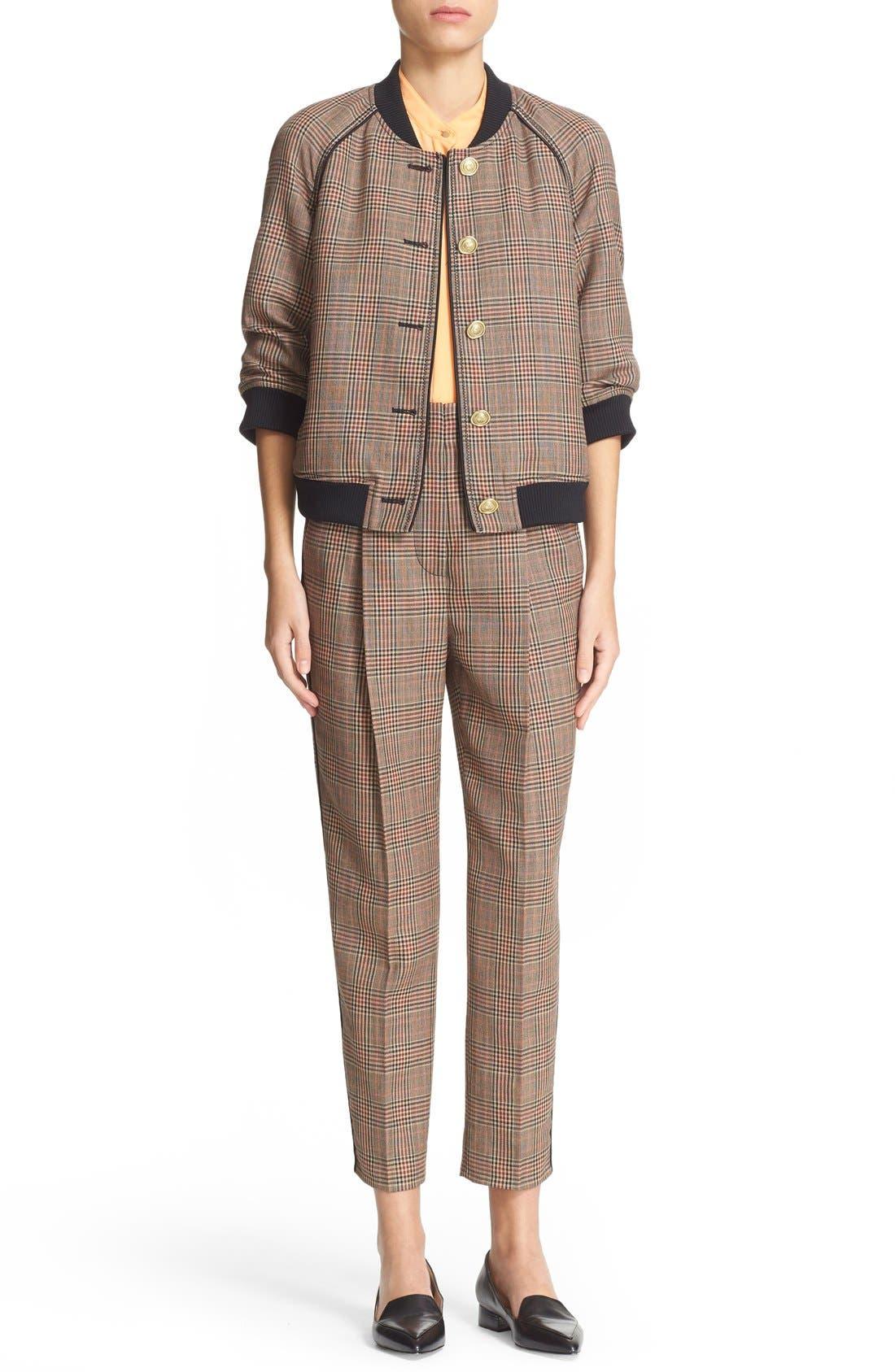 Alternate Image 2  - 3.1 Phillip Lim Pleated Glen Plaid Crop Wool Pants
