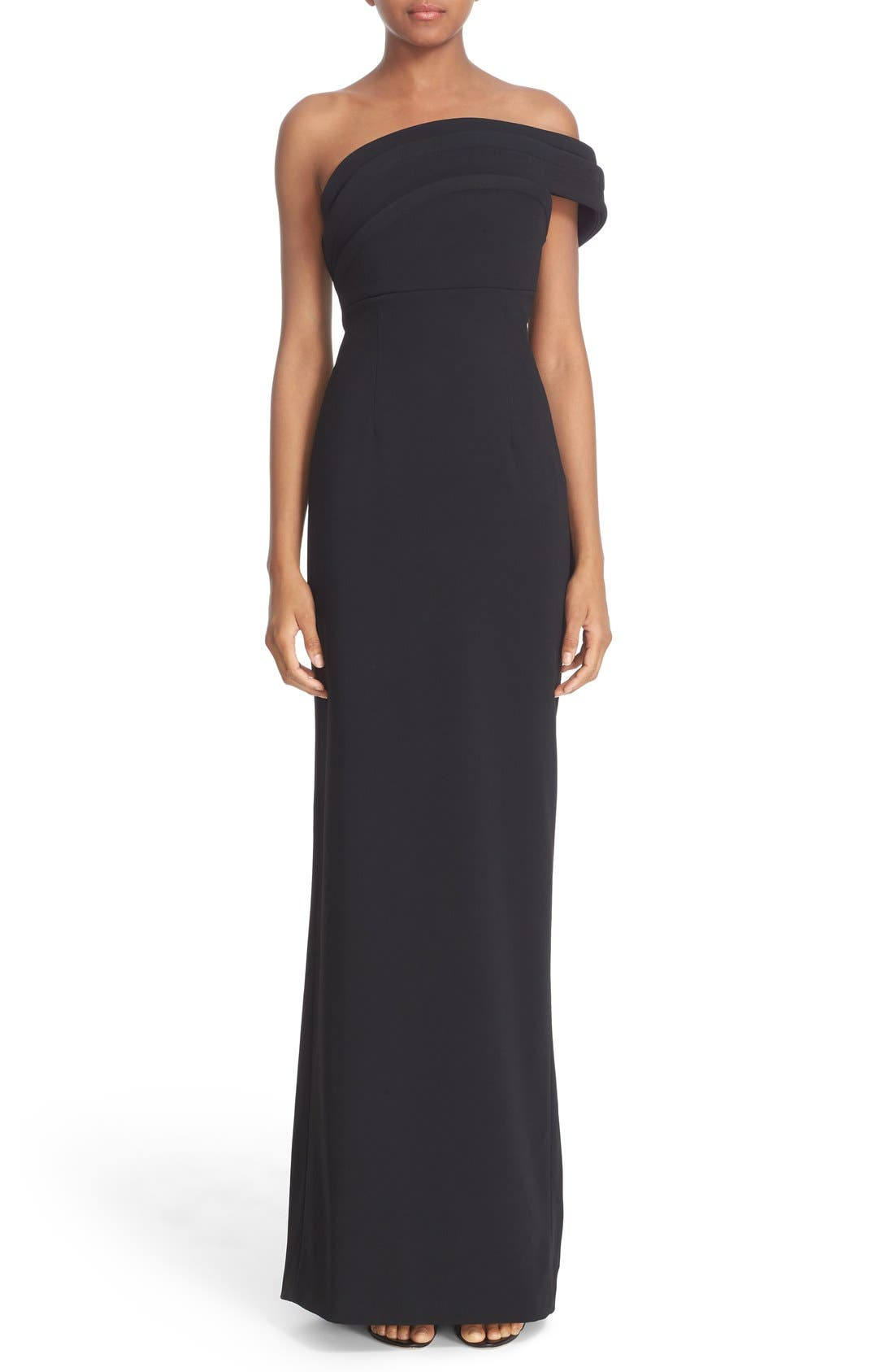 Alternate Image 1 Selected - Brandon Maxwell 'Cady' Off the Shoulder Column Gown
