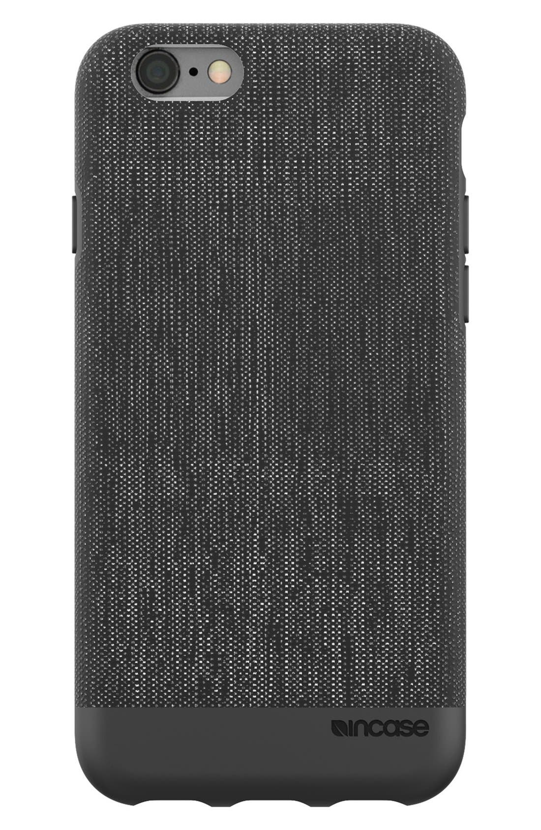 Textured iPhone 6/6s Case,                             Main thumbnail 1, color,                             Heather Black