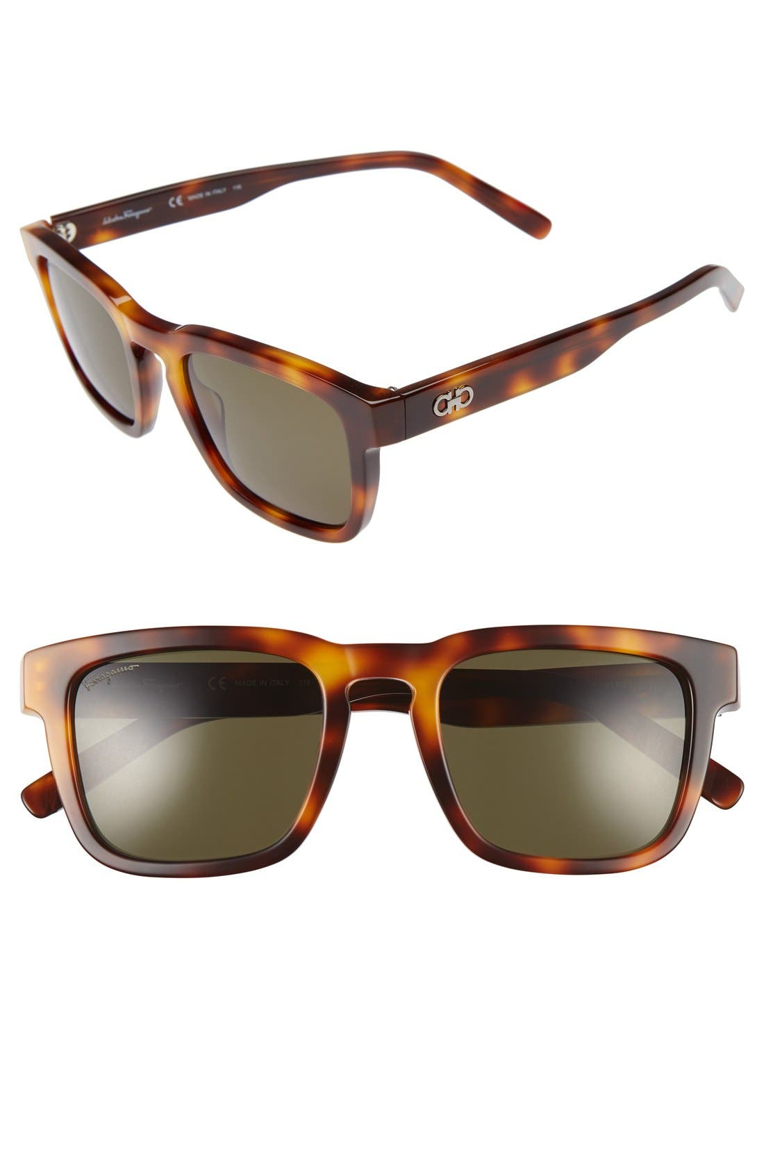 Alternate Image 1 Selected - Salvatore Ferragamo 51mm Square Sunglasses