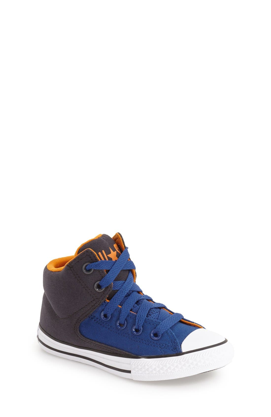 Chuck Taylor<sup>®</sup> All Star<sup>®</sup> 'High Street' Mid Rise Sneaker,                             Main thumbnail 1, color,                             Blue
