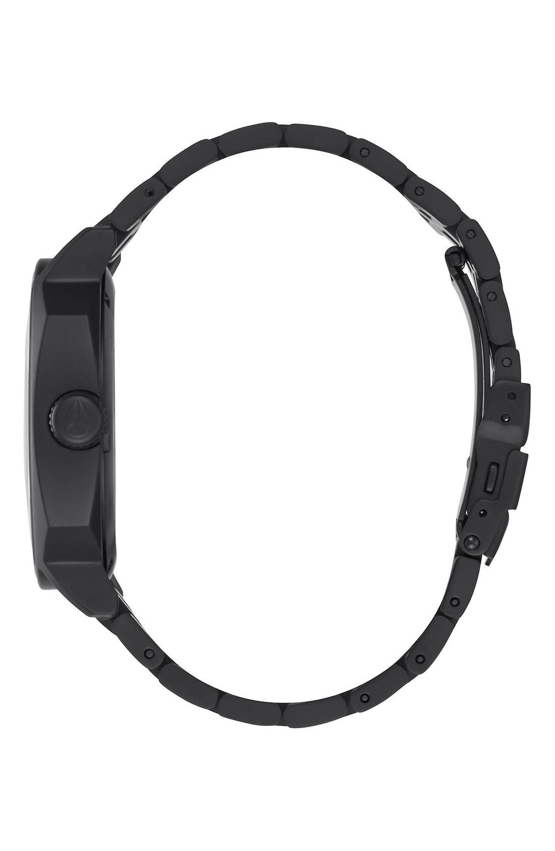 'The Regent II' Bracelet Watch, 42mm,                             Alternate thumbnail 3, color,                             Black/ Blue