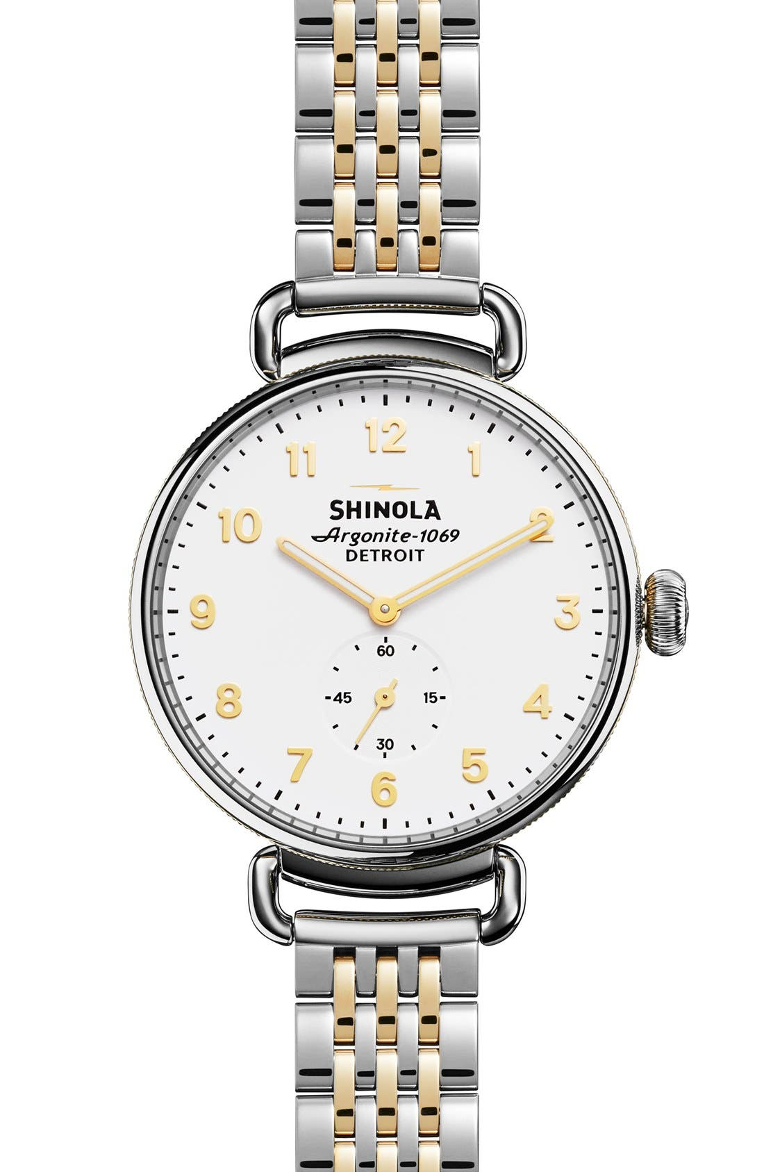'The Canfield' Bracelet Watch, 38mm,                         Main,                         color, Silver/ Gold/ White