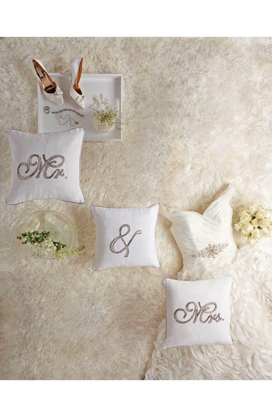 Alternate Image 3  - Mina Victory Embellished Wedding Pillow
