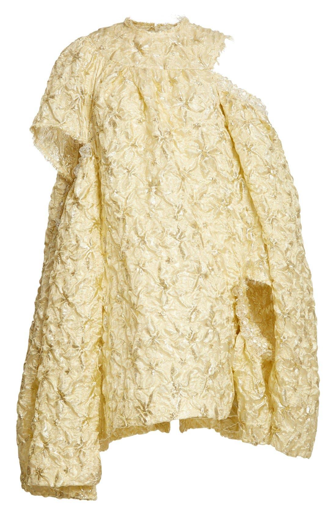 Alternate Image 4  - Simone Rocha 'Lava' Embellished Asymmetrical Trapeze Dress