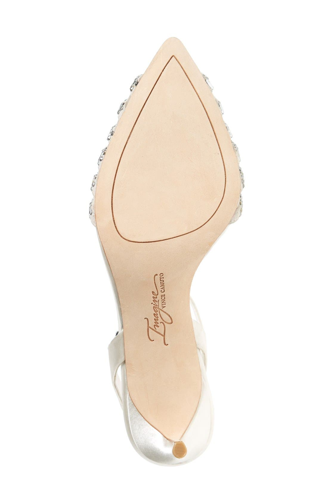 'Michael' Sandal,                             Alternate thumbnail 4, color,                             Ivory Satin